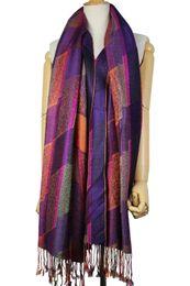 Wholesale Wholesale Scarf Paisley - OEM fashion Women jacquard viscose acrylic blend paisley scarf 12 colors mixed drop shipping