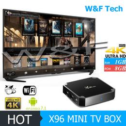Caja de tv android árabe online-Original X96 MINI 1 GB 8 GB Amlogic S905W Android 7.1 TV Box 4K WiFi Árabe Smart TV Box
