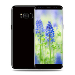 Wholesale Mobile 1g Ram - 5.8 inch Goophone S8 Full Screen 1G RAM 4G ROM Quad core MTK6580 cell phone can show Fake 4G Android mobile phone