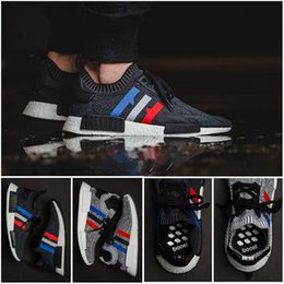 Wholesale Mens Striped - High Qualiyt 2017 Wholesale NMD R1 Primeknit PK Runner NMD x Footlocker NOMAD Womens Mens Sports Running Athletic Sneakers Shoes Size 36--45