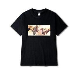 T-shirts en Ligne-Chanvre Dollar Bills Punk Tee Hommes Hip hop Rue Populaire Chemises T-HEYBIG Vintage Imprimer Gangsta Noir Marché chemise Asiatique TAILLE