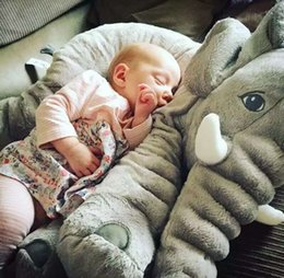 Wholesale Baby Giants - Giant Grey Elephant Plush Toy Pillow for Baby Big Stuffed Elephant Pillow and Doll Cute Elephant Plush Pillow Cushion 40cm