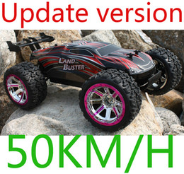 radio control trucks Coupons - Wholesale- 4WD High Speed 50km H Monster Truck with 2.4GHz Radio Remote Control Charger Included 1 12 Scale Rc car