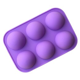 Wholesale Jelly Rubber Fda - Wholesale- New 6 even the domed DIY silicone cake mold soap mold Jelly pudding silicone chocolate molds 1pc