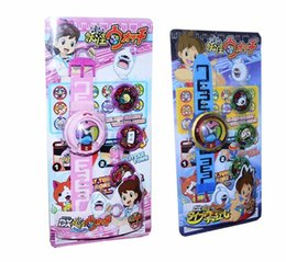 Wholesale Insert Rubber - DX Yo-kai Watch Japan Anime DX Yokai Watch Lighting sound watch Medal Baby gifts Insert the card sound
