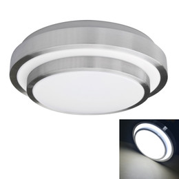 Wholesale bedroom border - 15W LED ceiling light, Surface mounted Silver borders + white lampshade,bedroom lamp AC 90-240V