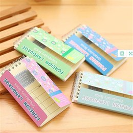 Wholesale Word Notebooks - Mini Vocabulary Words Recite Portable Spiral Notebook Foreign Language Study Books Sketchbook Stationery School Office Supplies