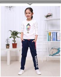 Wholesale Sports Harem Pants For Girls - Autumn kids girls clothing boutique fashion casual cotton sport pants top quality 100% cotton childrens loose harem pants for 2017