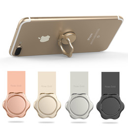 Wholesale Silver Mounting Ring - Magnetic Metal Ring Phone Holder with Stand New Style Cell Phone Holder Mounts Fashion For iPhone 8 X Plus Universal All Cellphone