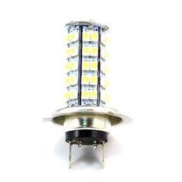 Wholesale 68 Smd 3528 Headlight - Wholesale- 1Pcs H7 68 SMD 3528 1210 LED White Xenon Car Auto Headlight Bulb Fog Lights Lamp For DC 12V Wholesale