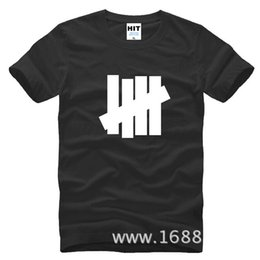 Wholesale Undefeated Xl - Tide hip hop undefeated four bars Mens Men Tshirt Fashion 2017 New Short Sleeve Cotton tTee Camisetas Hombre
