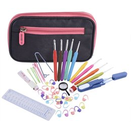 Wholesale Exclusive Cases - New Exclusive Offer 44 Pcs Ergonomic Crochet Hook Set With Organizer Case and Complet Accessories Crochet knitting needles Kit
