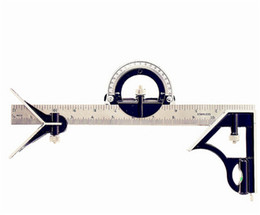 "Wholesale Combination Square Tool - New 12"" Combination Tri- Square Ruler Steel Machinist Measuring Angle Tool Rule Vernier Calipers"