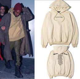Wholesale Paul Hoodies - Fleece Hoody Kanye West Yeezus The I Life Of Pablo Kanye Hoodies Men autumn Brand Clothing T-Shirt I Feel like Paul Pablo Kanye Saint Tour