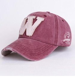 Wholesale Custom Sporting Caps - Cotton Embroidery Letter W Baseball Cap For Men Women Snapback Cap Hat Sports Caps Bone Outdoor Hat Style For Custom Hats