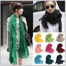 Wholesale Cotton Voile Shawls - Voile Scarf Drape Scarves Candy Color Shawl Cotton Linen Wrap Beach Scarves Fashion HeadScarf Pashmina Sarong New Bandana Neckerchief B2274