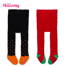Wholesale Lolita Socks - Fashion Leg Warmers Girls Babies Pants Christmas Halloween Tights Clothes Cotton Soft Lovely Tree Socks Red black Clothing for Newborn Girls