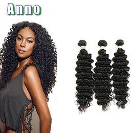 Wholesale Hair Colour 12 - Top Selling 7A Unprocessed Peruvian Virgin Deep 3Bundles Human Hair Weave Virgin Peruvian Deep Curly Hair Natural Colour