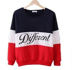 Wholesale Sweater Blouse Shirt - 2017 Autumn Winter Women Sweater New Letter Printed Women Pullover Tops Sweat Shirt Blouse Sweater Thick Tracksuits Sudaderas