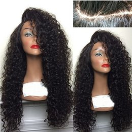 Wholesale Brazilian Beautiful Women - High-quality Deep Curly Glueless Full Lace Human Hair Wig For Beautiful Black Women Around The World natural hairline Bleach Konts