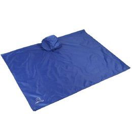 Wholesale Free Shelter - 220x145cm 3 in 1 Camping Mat Tent Sun Shelter Rain Coat Waterproof Picnic Sandbeach Moisture-proof Pad Playing Mat Free Shipping