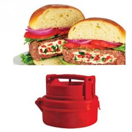 DIY innovador utensilios de cocina Mini fabricante de carne de hamburguesa Molde redondo empanadas de plástico hacen molde herramienta de barra de comedor de cocina desde fabricantes