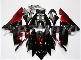 Wholesale Red Fit Bike - New ABS motorcycle bike Fairing Kits Fit For kawasaki Ninja ZX10R 04 05 ZX-10R 2004 2005 bodywork Set nice black red flame