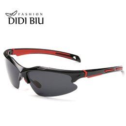 military sunglasses brands Promo Codes - DIDI Men Polarized Sunglasses Brand Military Plastic Half Frame Glasses Vintage rectangle Gradient Coating Driver Gafas Sol H010