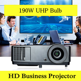 Wholesale 3d Projector Cheap - Wholesale- 3D Projector HD DLP High Definition 7000 Lumens Daylight use for School Business Education Teaching Home Theater Projector Cheap