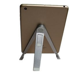 """Wholesale Tablet Pc Tripod - Wholesale- 7 8 9 10 inch tablet holder Aluminum alloy tripod tablet PC stand holder suitable for 9.7"""" ipad pro ipad Air 2 ipad mini 4"""