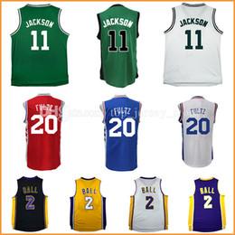 Wholesale High Quality New Men S - Cheap Lonzo Ball jersey men 2017 New No.1 Draft Piack Men's 20 Markelle Fultz 11 Josh Jackson Basketball Jerseys High quality Stitched