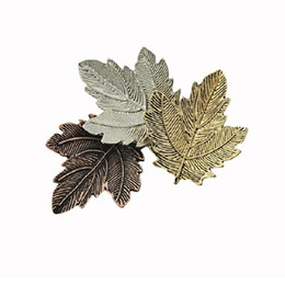 Wholesale Dancing Brooches Pin - Trendy vintage pin maple leaf brooch gold silver plated brooches pins exquisite collar for women dance party accessories