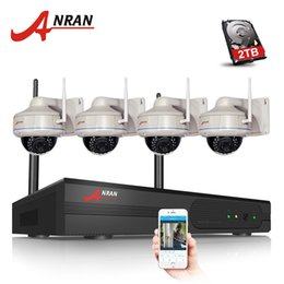 Wholesale Outdoor Vandal Dome Camera - 4CH Wireless NVR Kit 1080P 2.0 Megapixels Outdoor IR Vandal-proof Dome 30IR IP Camera WIFI Security Surveillance System 2TB HDD Optional