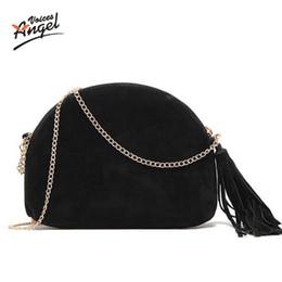 Wholesale Wholesale Suede Purses - Wholesale-Shell Small Handbags New 2016 Fashion Brand Ladies Party Purse Famous Designer Crossbody Shoulder Bag Women Messenger Bags Suede