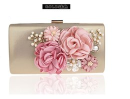 Wholesale Ladies Handbags For Sale - Hot sale evening party banquet clutch Dresser handbag Cosmetic makeup bags flower handbags for fashion and elegant lady