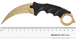 Wholesale Fighting Tools - CS GO Stripe Karambit Knife Counter Strike Karambit Tactical Handmade Fighting Claw Hunting Knives Survival Camping Tool