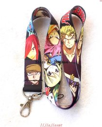 Wholesale Neck Chains For Sale - Hot sale 10 pcs fashion Cartoon Japanese Anime Fairy Tail Straps Lanyard ID Badge Holders Mobile Neck Key chains For Party Gift