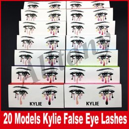 Wholesale Models Hair Extensions - kylie False Eyelashes 20 model Eyelash Extensions handmade Fake Lashes Voluminous Fake Eyelashes For Eye Lashes Makeup