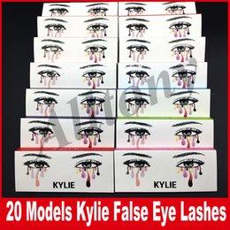 Wholesale Hair Models - kylie False Eyelashes 20 model Eyelash Extensions handmade Fake Lashes Voluminous Fake Eyelashes For Eye Lashes Makeup