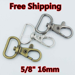"Wholesale Cord Metal Clasp - New 20pcs 5 8"" 16mm Metal Swivel Lobster Clasps Clips Dog Leash Swivel Hook Snaphook Cord Hook Buckle Trigger Clips Snap"