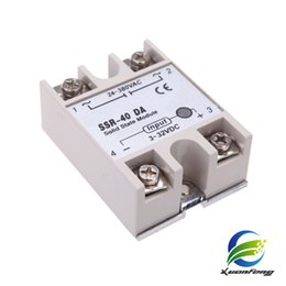 Wholesale Dc Ssr - 24V-380V 40A SSR-40 DA Solid State Relay Module for PID Temperature Controller 3-32V DC To AC