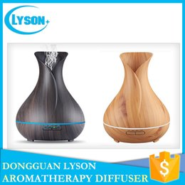 Wholesale Essential Oil Packaging - Light Wood Color 300ml Capacity Ultrasonic Essential Oil Aromatherapy Diffuser Cool Mist Wood Grain Aroma Humidifier Diffuser