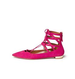 Wholesale Rose Zip - Zandina Handmade Fashion Crisscross Ankle Strap Flats Pumps Pointed Toe Zipper Closure Party Prom Ballet Shoes Rose