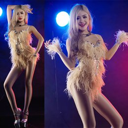 Wholesale Modern Stages - 2017 dancer sexy clothes New fashion female short modern dance costume stage singer red costumes sexy costume for singer star