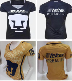 Wholesale Cheap Mexico Football Jerseys - 17 18 WOMEN Mexico american club Yellow soccer jerseys,Discount Cheap top football jersey tops,2017 new topMajor League Team Soccer Wear