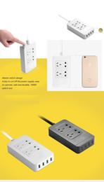 Wholesale usb plug strip - Smart Power Socket Portable Strip Plug Adapter with 4 USB Port Multifunctional Smart Home Electronics