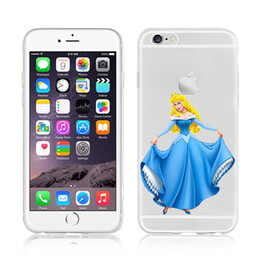 Wholesale Minion Silicone Phone Cases - For Apple iphone6 plus 7plus silicone sell phone case Painted TPU Snow White Disney cartoon Minions Baymax