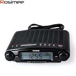 desktop radio player Promo Codes - Wholesale-Tecsun Radio MP-300 DSP FM Stereo USB MP3 Player Desktop Clock ATS Alarm Black FM Portable Radio Receiver Y4137A Tecsun MP300