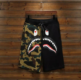 Wholesale Camouflaged Pants Men - New Hot sale Shark Ape Head pants summer fashion beach shorts camouflage printed shorts men pants