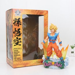 Wholesale Doll Scale - New Arrival 24cm The Son Goku The Brush Dragon Ball Z Super Master Stars Diorama Action Figure 1 7 scale painted figure toy doll